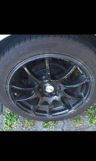 Advan 16 inch rim with tyre Nexen N8000 4x100 /114.3