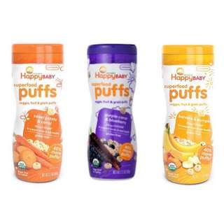 Happy Baby Organic Superfood Puffs, 60g