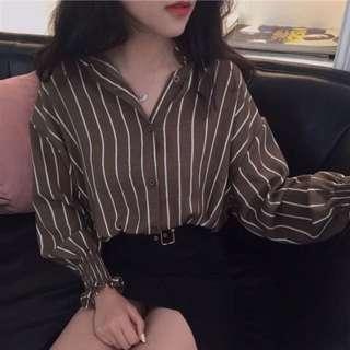 📦 [PO] Stripes button down top