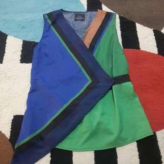 plains & prints tri color top