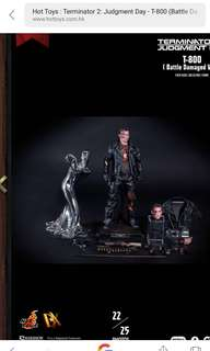 Hot toys DX13 TERMINATOR 2: JUDGMENT DAY T-800 (BATTLE DAMAGED VERSION) 1/6TH SCALE