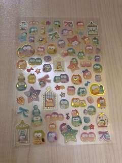 貓頭鷹貼紙 owl sticker