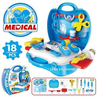 Dream Doctor Suitcase Children´s Kid´s Pretend Play Toy Doctor Nurse Set w/ Tools, Accessories