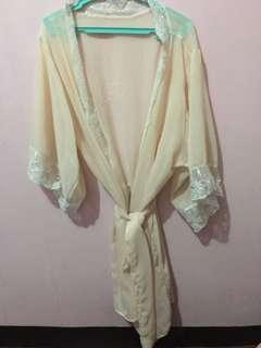 Lace Robe/Bridal Robe (peach)