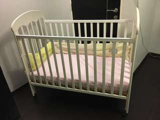 Shears Baby Cot with mattress