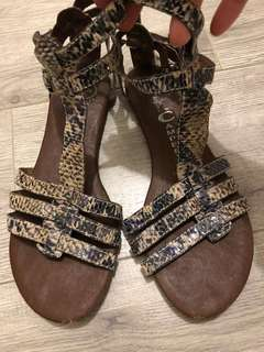 Jeffery Campbell Leather Gladiator Sandals 36