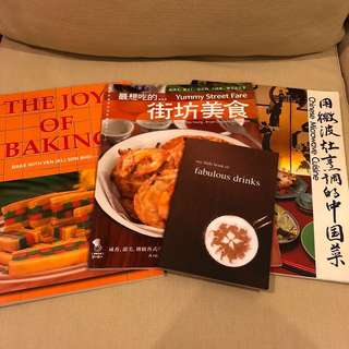 Assorted recipe cookbooks with photos and step-by-step instruction (RM8-RM12 for each)