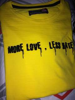 BUM SHIRT (Medium) More love less hate