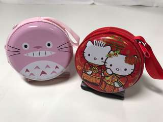 Hello Kitty/Totoro Coin Purse/Earphone holder