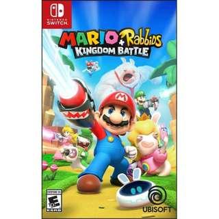 [NEW & SEALED + PROMO] Nintendo Switch Mario + Rabbids Kingdom Battle