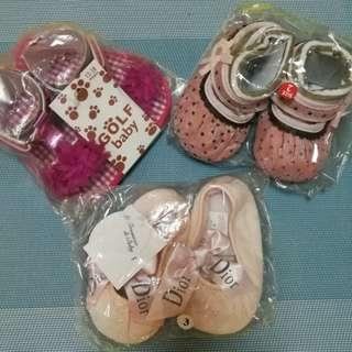 3 pairs for $10. Bundle sale. Baby shoes. Prewalkers. Bag 6