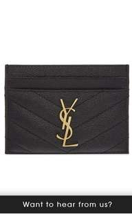 Saint Laurent Leather card holder YSL
