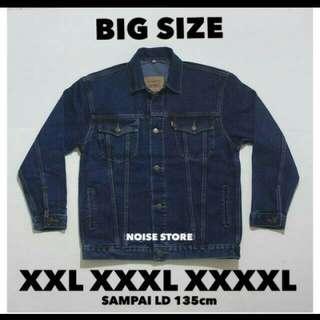 Jaket jeans levis big size bio wash premium quality