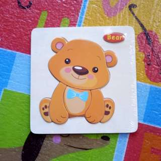 (BNEW) Bear Wooden Puzzle