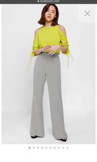 Love bonito pvara high waist flare pants
