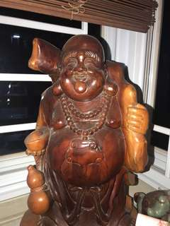 Laughing Buddha woodcraft