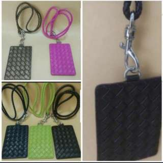 Bottega Veneta Inspired Card Holder with lanyard