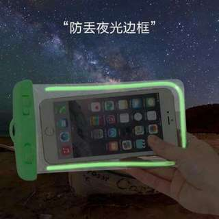 Waterproof pouch glow in the dark