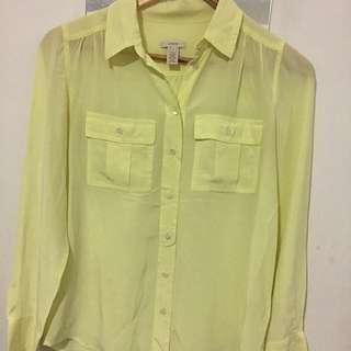 Women's J Crew 100% Silk Shirt