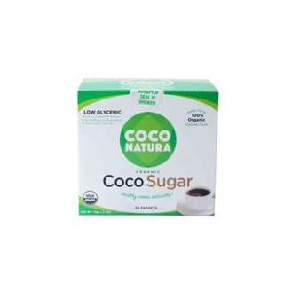 Coco Natura Organic Coconut Sugar, 50 packets lus free 12