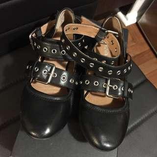 Wittner Women's Black Leather Flats