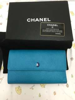 🚚 Chanel 雙色三折長夾 護照夾