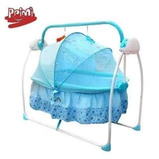 Baby electric musical swaying crib