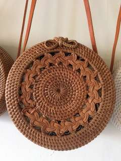 ON HAND AND READY TO SHIP RATTAN BAG