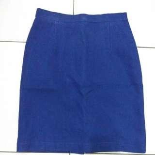 Skirt Blue For Work