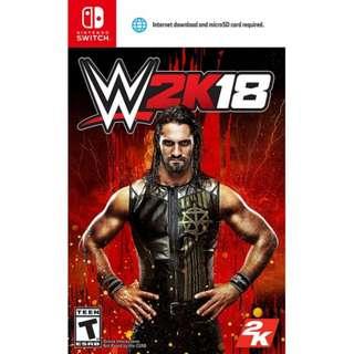 [NEW & SEALED + PROMO] Nintendo Switch WWE 2K18