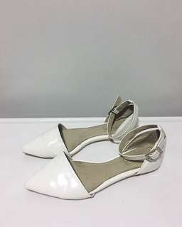 Topshop White Flats