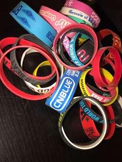 Assorted K-Pop wrist bands