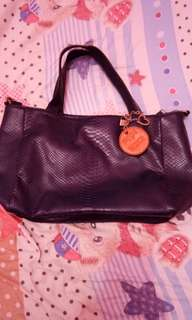 Leather 3 compartments bag