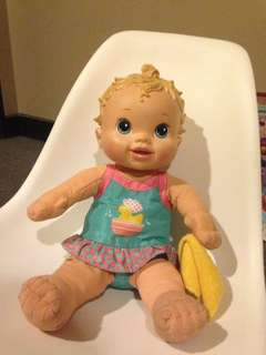 Talking washable baby alive
