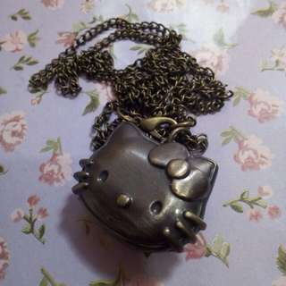 Kalung jam hello kitty
