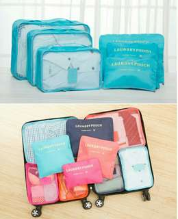 Travel storage bag set (6 pcs)