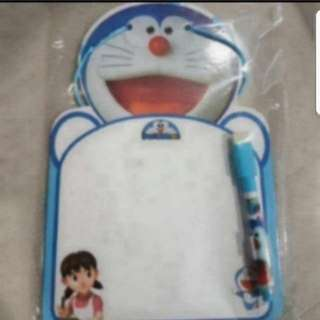 In Stock Doraemon Writing Board Cum Timetable Scheduler With Marker Size is 16.5 × 24cm