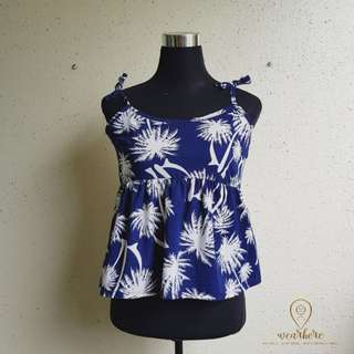 JOANNE strappy tropical top