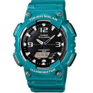 Casio AQ-S810WC-3A Tough Solar Blue Watch for Men - COD FREE SHIPPING