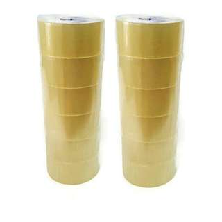 12 Rolls OPP Tape Clear Transparent 48mmx80m