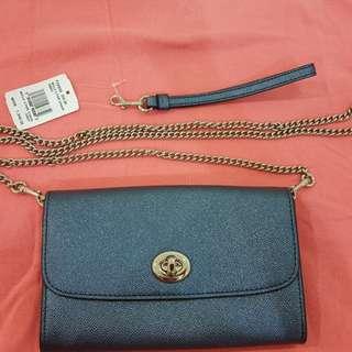 Coach💯%ori leather bag