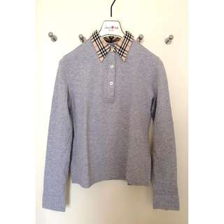 Burberry London  女裝 Polo款 長袖 針織 上衣   Ladies Knitted Polo Shirt  ^^Size S ..