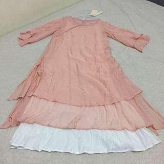 🚚 淺色粉紅 連身裙