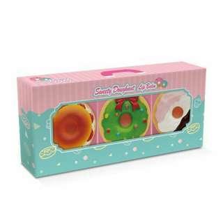 甜甜圈三色護唇膏 #彩妝半價