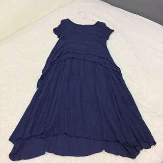 🚚 深藍色 連身裙