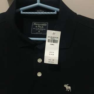 Abercrombie & Fitch Navy blue polo shirt