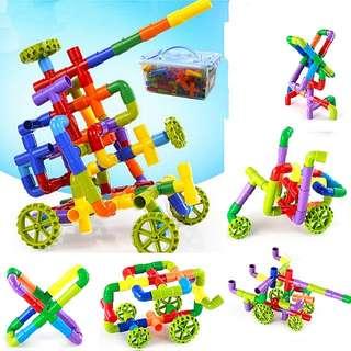 158pcs Pipes Building Blocks Construction Toy Set