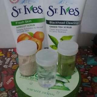 St. ives  scrub apricots dan greentea