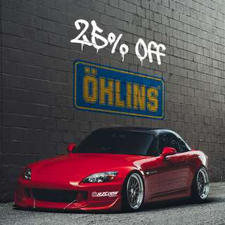 25% oFF Ohlins DFV road & Track coilover suspension kits, CT9A, FD2R, S2000, ZC32S