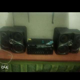 All Set Dvd with amplifier and Sony Speaker